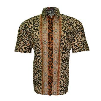 EN-ZY Kemeja Batik Tiktra - Hitam