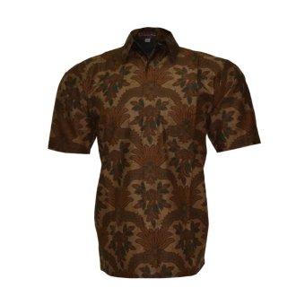 EN-ZY Kemeja Batik Lengan Pendek - Coklat