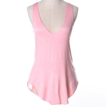 ZUNCLE Modal Vest Deep V-neck T-shirt(Pink)