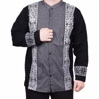 Ormano Baju Koko Muslim Batik Lengan Panjang Lebaran ZO17 KK47 Kemeja Fashion Pria .