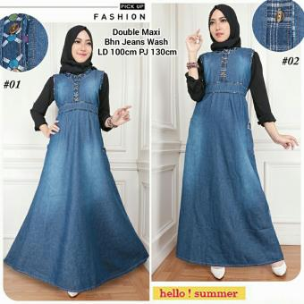 168 Collection Dress Narika Jeans Overall Biru Tua Update Harga Source · Harga Spesifikasi Sb Collection Arella Overall Maxi Gamis Biru Tua Source Harga SB ...