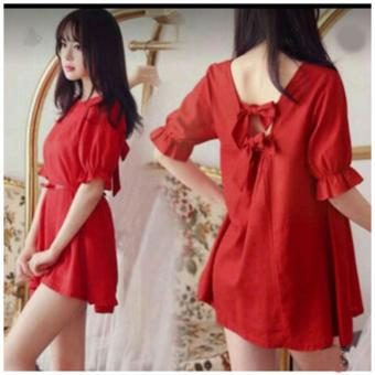 Vivialla Ribbon Peplum Mini Dress Red Daftar Update Harga Source · Harga Terbaru MJ Dress MD