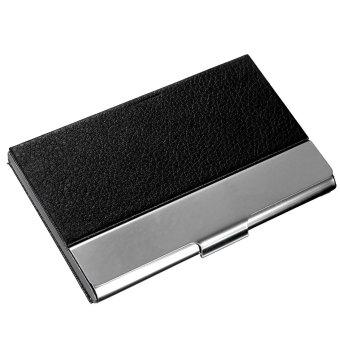 Baru Aluminium Saku Jaket Kulit Id/Bisnis Kasus Kotak Logam Pemegang Kartu Kredit