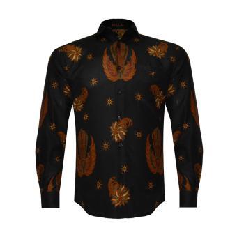 EN-ZY Men Batik Gurdo Long Sleeve Shirt - Black