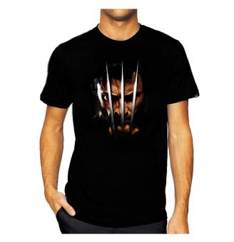 11gfn T-Shirt 3D Wolverine - Hitam