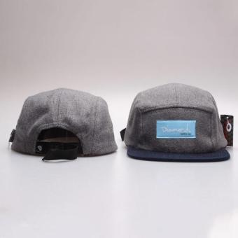 harga Popular &Fashion Design 20 Style Five 5 panel diamond snapback caps hip hop cap flat hat hats for men (Grey) - intl Lazada.co.id
