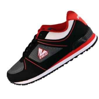 2Beat Keyza Sepatu Lifestyle - Black Red White Grey