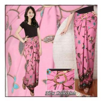 ... Harga Terbaru SB Collection Rok Lilit Maxi Batik Aulia Long Skirt Pink