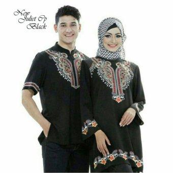 harga Jakarta Couple - Baju Couple Muslim Juliet Black Motif Bordir Lazada.co.id