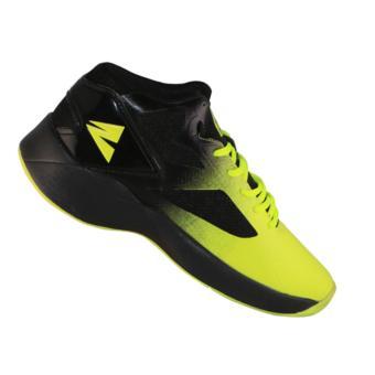 2Beat Wolves Sepatu Basketball - Black & Light Green