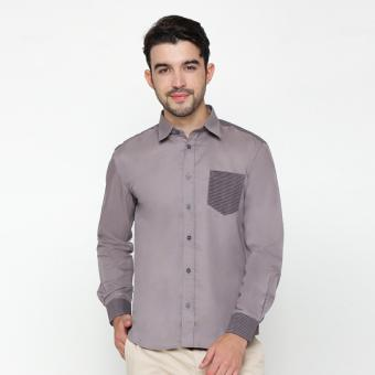EN-ZY Men Shirt With Lurik - Grey