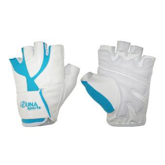 Zuna Sport Ladies Power Multifunction Gloves Half Finger - White