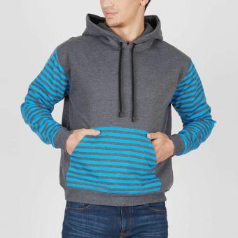 EN-ZY Grey Hoodie Long Sleeve Stripes - Grey