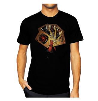 11gfn T-Shirt 3D Poker Play - Hitam