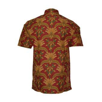 EN-ZY Kemeja Batik Lengan Pendek - Merah