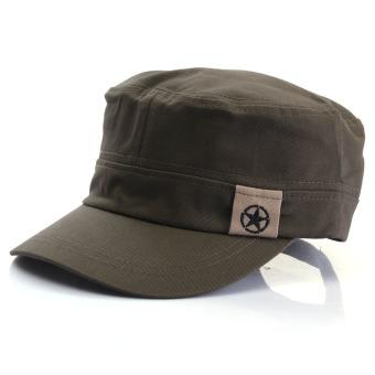 Orang baru tentara wanita topi militer bintang taruna diatur vintage luar ruangan nilon .