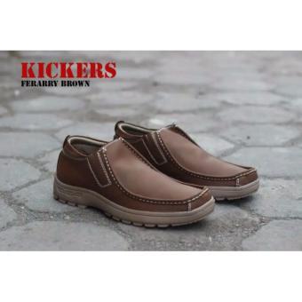 harga Sepatu Kickers Slop Ferarry Brown Lazada.co.id