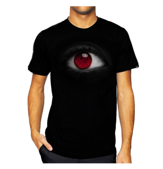 11gfn T-Shirt 3D Eye Poker - Hitam