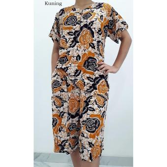 Pitakita Baju Tidur Celana Kulot Batik - Kuning