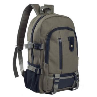 harga Men Backpack Bags Multipurpose Canvas Travel Hiking Outdoor High School Student College Shoulders Rucksack for Mini iPad Samsung Galaxy 14 Inch Laptop Army Green - intl Lazada.co.id
