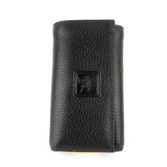 David Jones dompet kulit stnk gantungan kunci mobil / motor motif jeruk 1152 hitam ( DJ