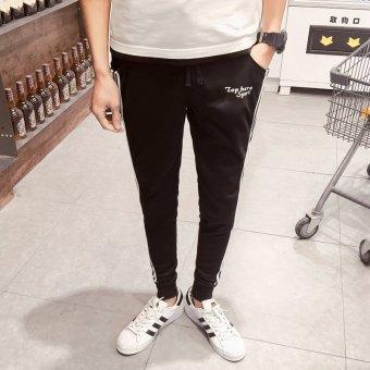 ZUNCLE Men's Trousers Slim Feet Harem Pants(Black)