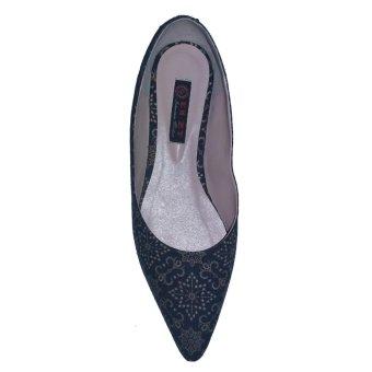 EN-ZY Flat Shoes Batik - Hitam