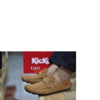harga Sepatu Slop Kickers Casual Kerja Santai Pria Hitam Coklat Tua Lazada.co.id