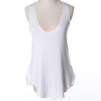ZUNCLE Modal Vest Deep V-neck T-shirt(White)