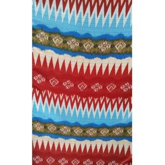 Batik RangRang Motif Alternatif A - Merah + Biru Muda