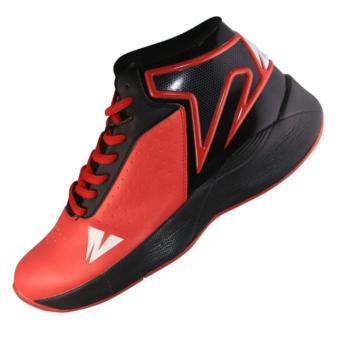 2Beat Warriors Sepatu Basketball - Black Red