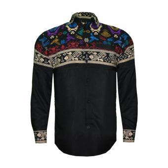 EN-ZY Men Shirt Long Sleeve Batik Liman - Black