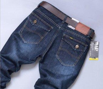 Harga Terbaru TB The new men's slim slim straight jeans - intl