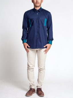 Zyk Teal Line Navy