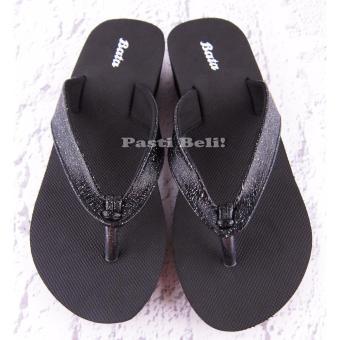 Bata Sandal Wanita Cantik Wedge 572-6548 Hitam