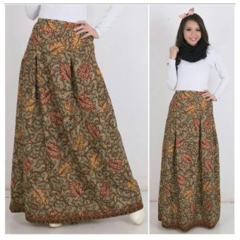 Harga Terbaru 168 Collection Rok Maxi Cathrine Batik Long Skirt-Coklat