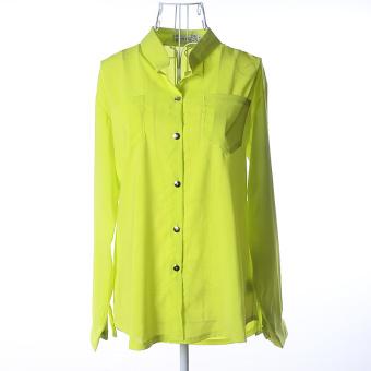 ZUNCLE Chiffon Shirt Casual Jacket(Light green)