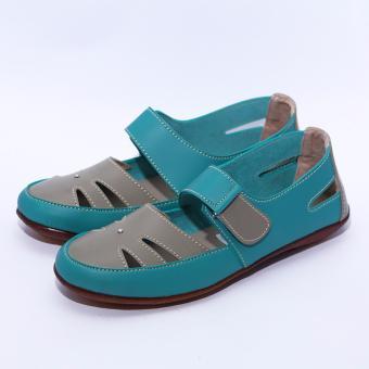 Yutaka Flat Shoes Hijau Krem