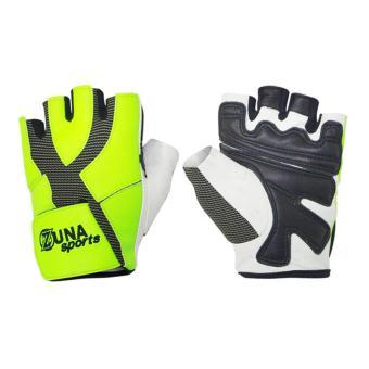 Zuna Sport Ladies Power Multifunction Gloves Half Finger - Green