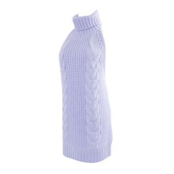 harga Fangfang 2017 Spring New Arrive Sexy Women Virgin Killer Back length turtleneck sleeveless sweater Dress - intl Lazada.co.id