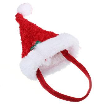 harga 2 buah Set anjing peliharaan kucing Natal Santa Hat dan kerah dengan lonceng Natal kostum baju - Internasional Lazada.co.id