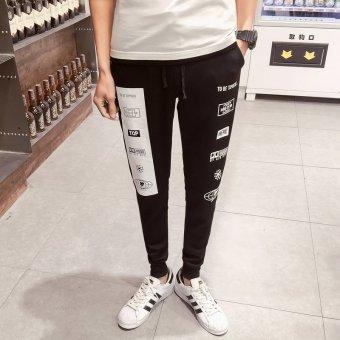 ZUNCLE Men's Korean Harem Slim Feet Pants(Black)
