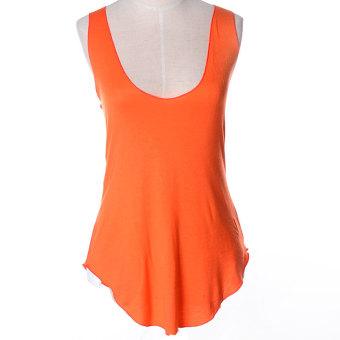 ZUNCLE Modal Vest Deep V-neck T-shirt(Orange)