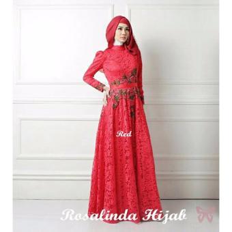 Hasanah Gamis Syari Syfarose Benhur Gamis Syari Harga Baru 2017 Source · Hasanah Fashion Rosalinda Maxi