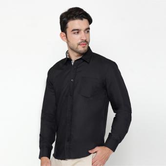 EN-ZY Men Shirt Batik Parang - Black