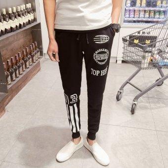 ZUNCLE Men's Trendy Slim Feet Sport Harem Long Pants(Black)
