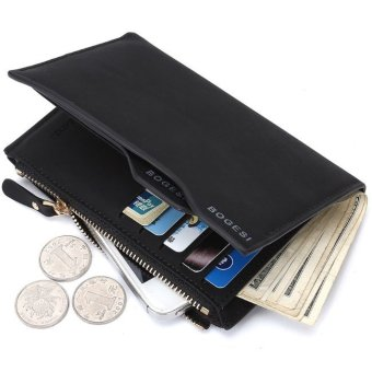 Harga BOGESI Men Pria Wallet With phone and Coin Bag Man Purse Color – Hitam Murah