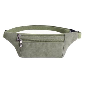 2016 Pria Mode Cell Phone Bag Canvas Sport Bag New Tas Pinggang (Tentara hijau)