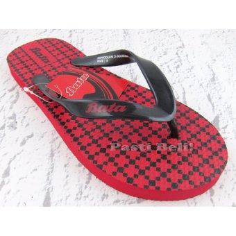 Bata Sandal Pria Keren Merah 872-5602