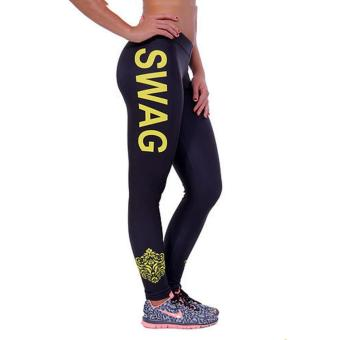... 360dsc Athleisure Unique Letter Printed Leggings Tights Active Yoga Running Pants Black White Letters. Harga Terbaru LALANG Women Causal Joggers Letter ...
